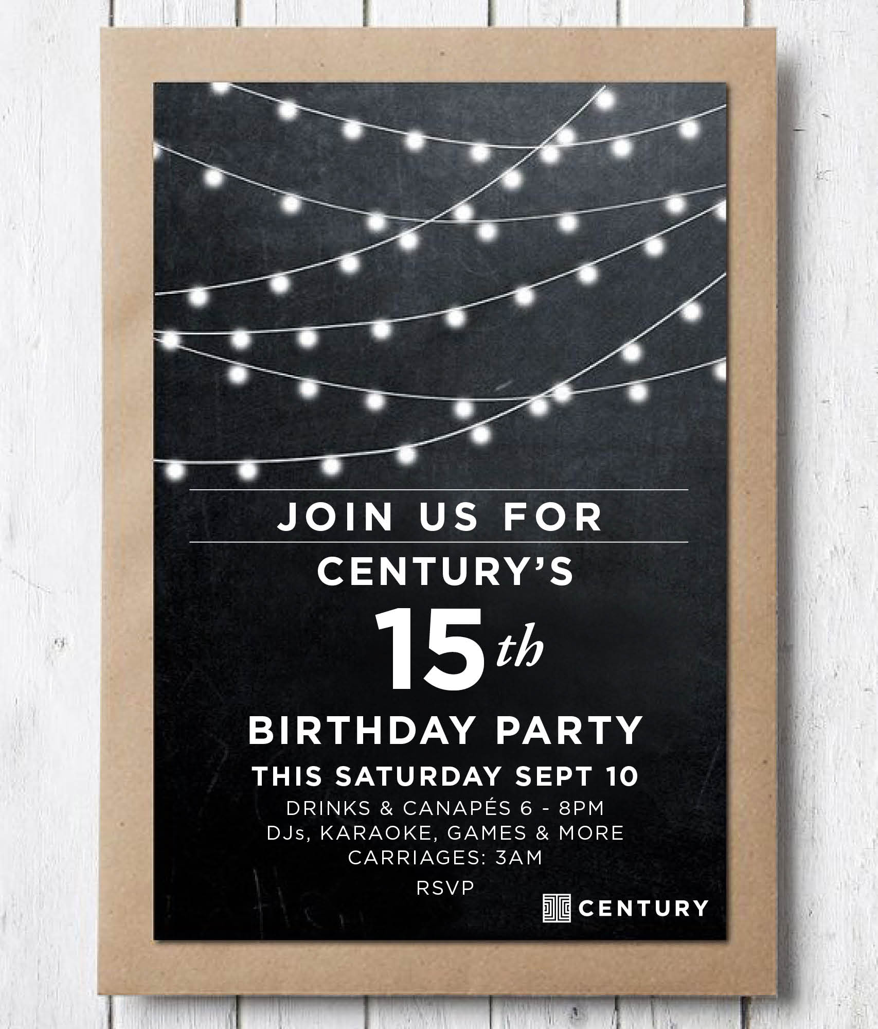 CENTURY 15TH BIRTHDAY PARTY