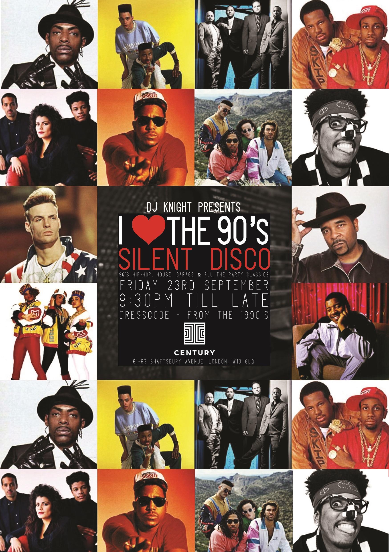 SILENT DISCO: I LOVE THE 90s