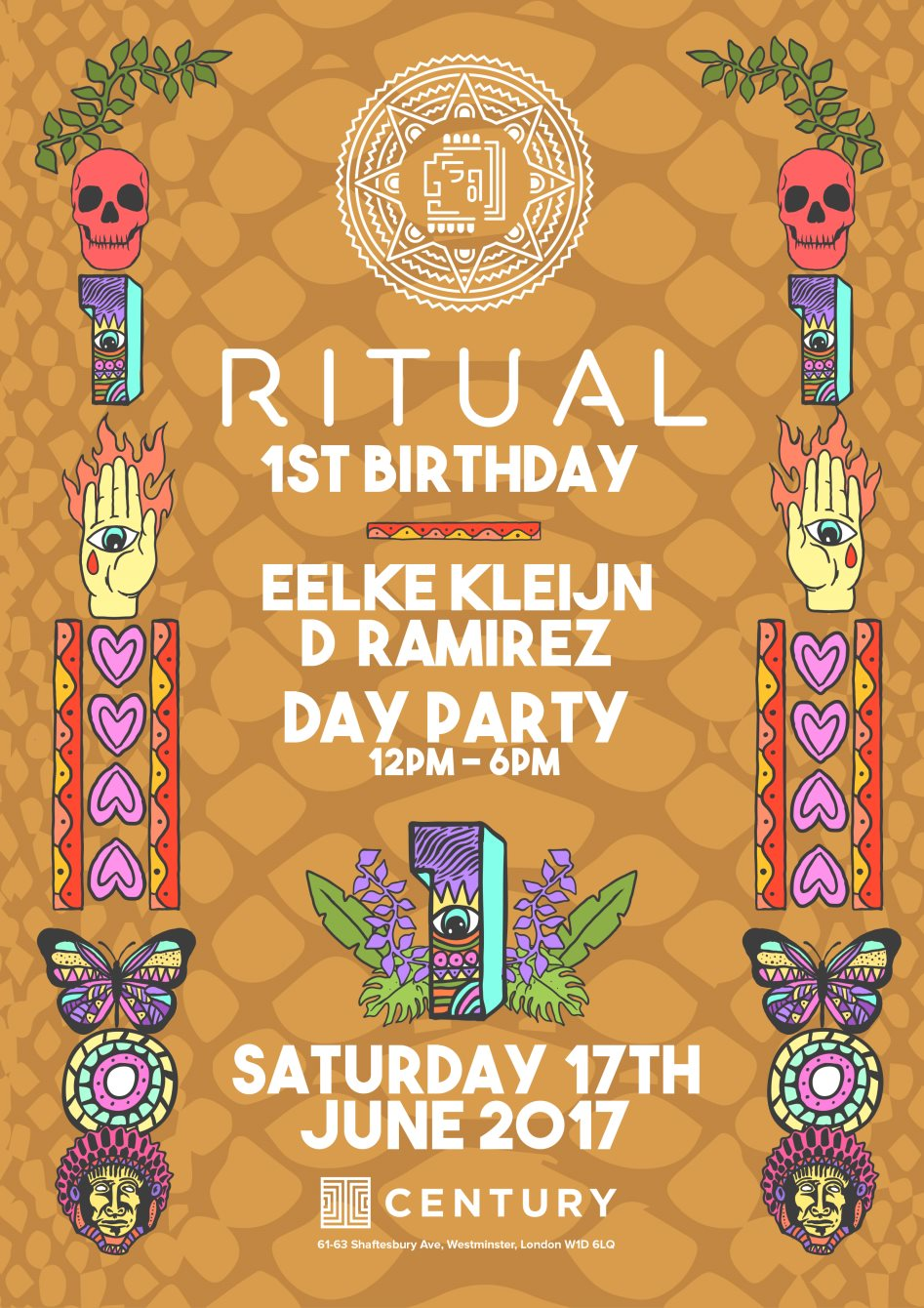 RITUAL 1ST BIRTHDAY - ROOFTOP DAY PARTY WITH EELKE KLEIJN, OC & VERDE, D RAMIREZ + AFTER PARTY